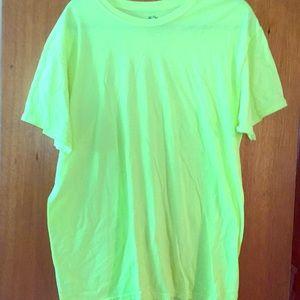 Lime colored shirt
